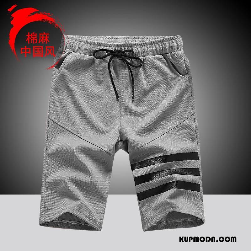 Casualowe Spodnie Męskie Slim Fit Nowy Spodnie Dresowe Szorty Lato Wygodne Czarny