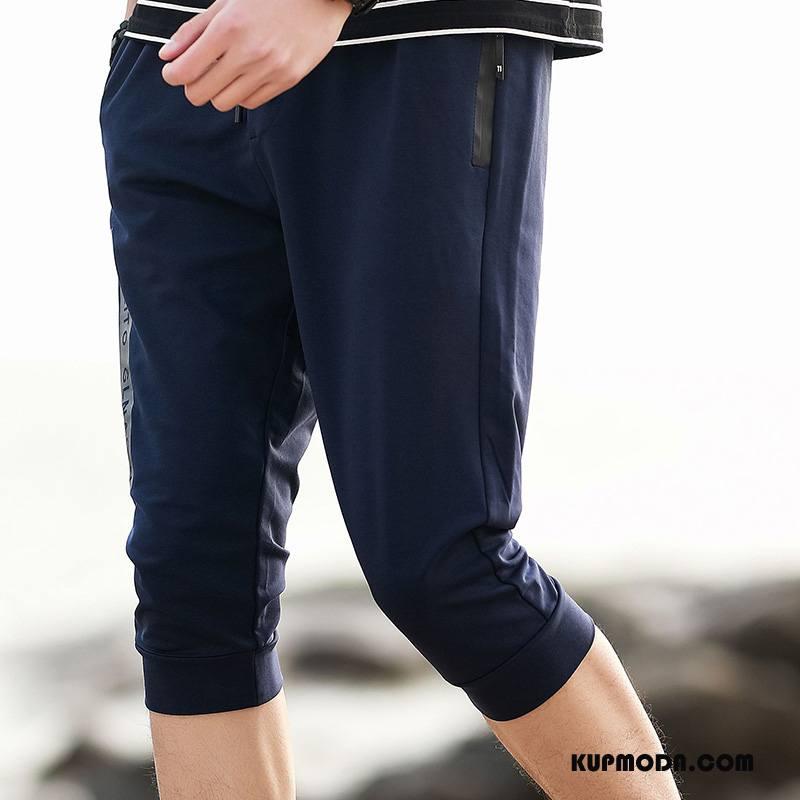 Casualowe Spodnie Męskie Szorty Slim Fit Moda Mały Męska Tendencja Szary