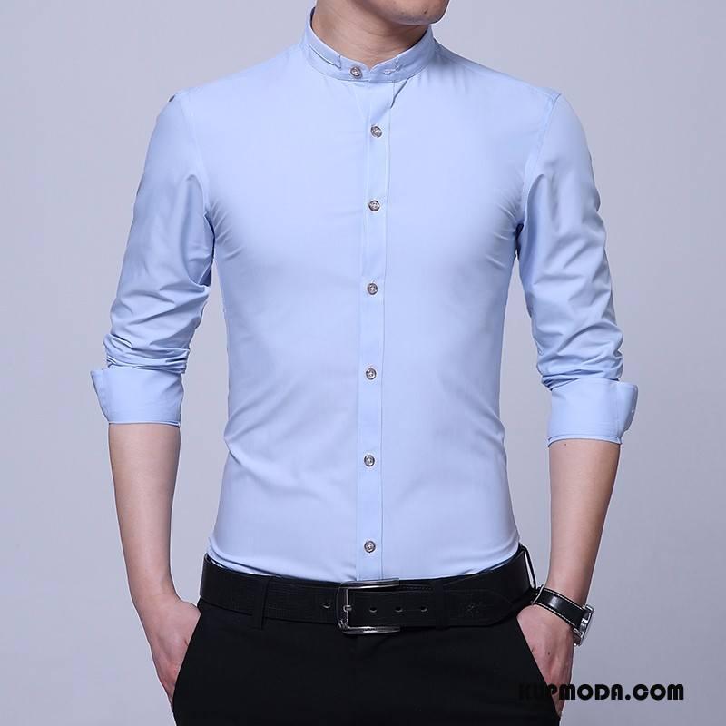 Koszula Męskie Slim Fit Długi Rękaw Moda Lato Casual  z4WVz