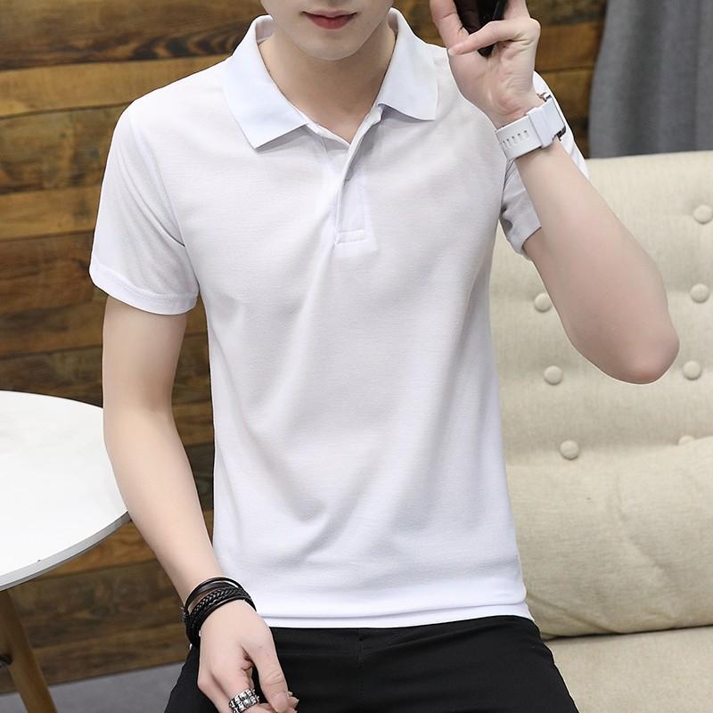 Koszulka Polo Męskie Krótki Rękaw Koszula Lato Slim Fit T-shirt Klapa Żółty  Oferta 0108d74704b