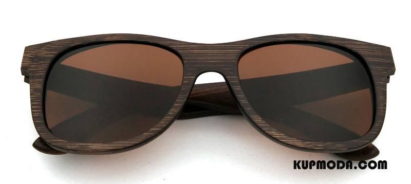 Okulary Przeciwsłoneczne Męskie Vintage Bambus Damska Nowy