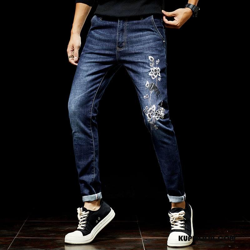 d7c9f9cf Jeansy Męskie Modna Marka Spodnie Moda Denim Niebieski