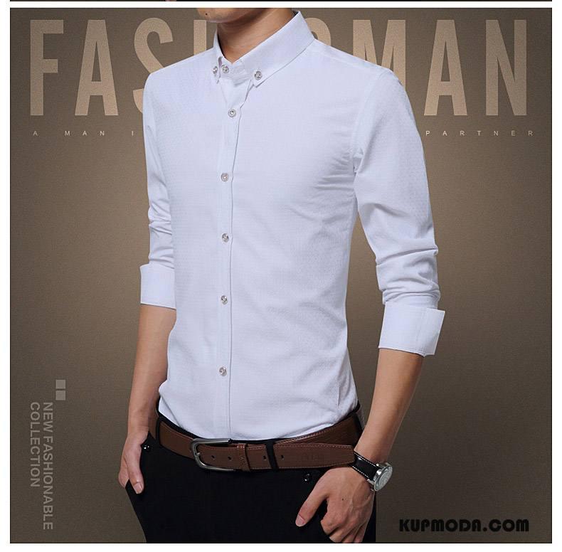Koszula Męskie Plus Kaszmir Ciepłe Biznes Dla Grubych Zima  KQeah