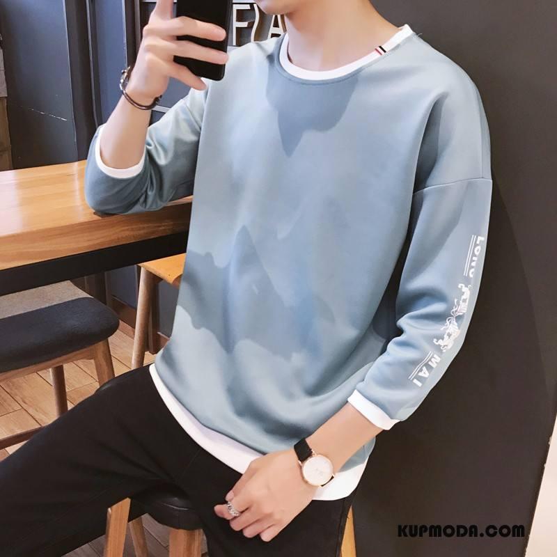 Bluza Z Kapturem Męskie Rękawy Gorąca Sprzedaż Modna Marka Krótki Rękaw Miasto Bluzy Z Kapturem Niebieski