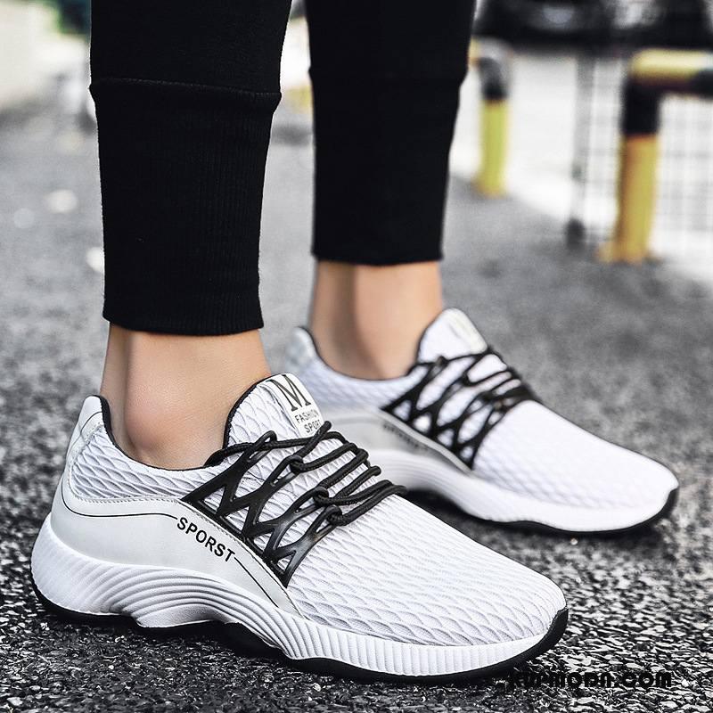 Buty Casualowe Męskie Młodzież 2018 Trampki Męska Moda Oddychające Biały