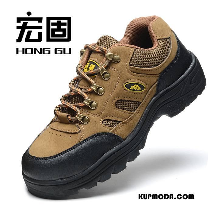 Buty Na Wędrówki Męskie Antypoślizgowe Outdoor Odporne Na Zużycie Trekkingowe Brązowy