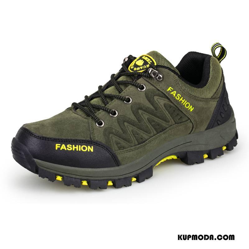 Buty Na Wędrówki Męskie Autentyczny Outdoor Wodoodporny Trekkingowe Sportowe Buty Trekkingowe Zielony