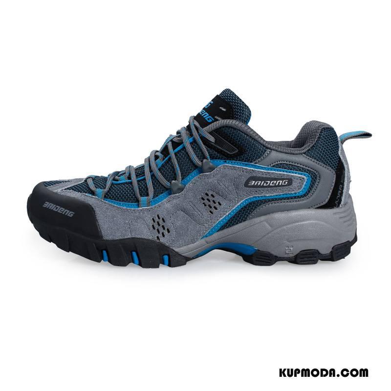 Buty Na Wędrówki Męskie Buty Trekkingowe Sportowe Outdoor Wodoodporny Odporne Na Zużycie Trampki Niebieski