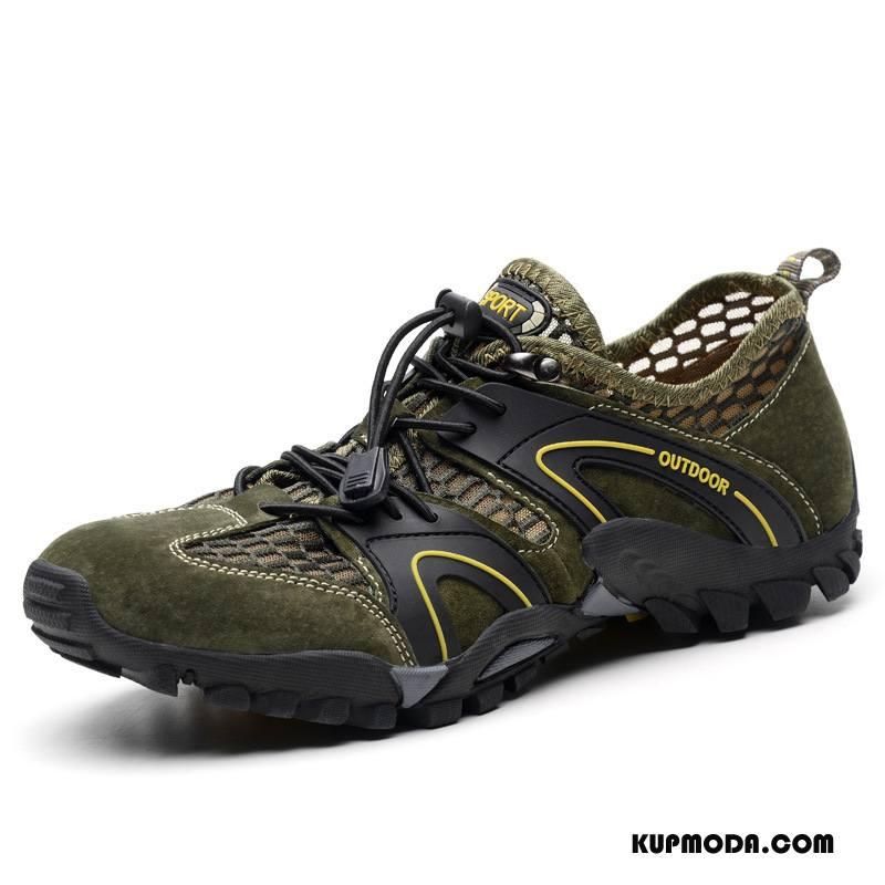 Buty Na Wędrówki Męskie Casual Sportowe Wędkarskie Podróż Męska Outdoor Zielony
