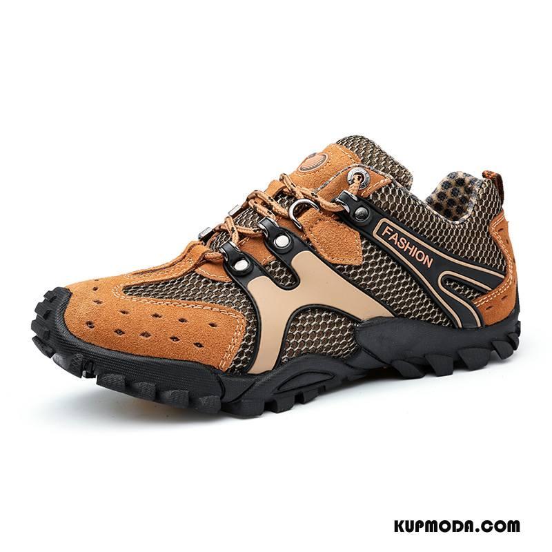 Buty Na Wędrówki Męskie Sportowe Jesień Zima Outdoor Antypoślizgowe Duży Rozmiar Brązowy
