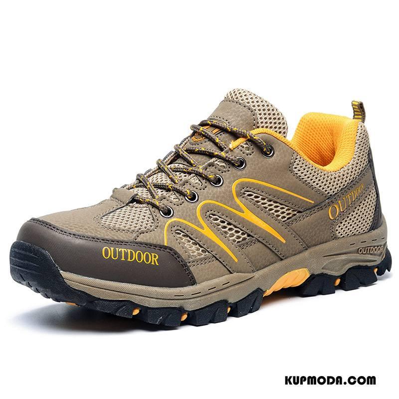 Buty Na Wędrówki Męskie Wiosna Sportowe Buty Trekkingowe Damska Antypoślizgowe Odporne Na Zużycie Brązowy Żółty