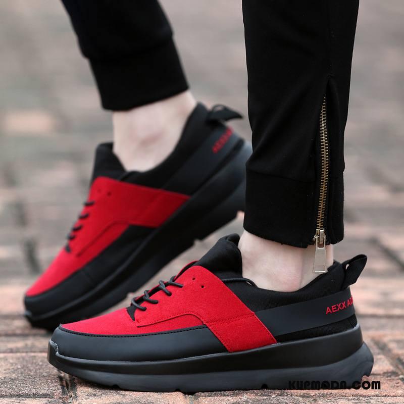 Buty Sportowe Damskie Siatkowe Duży Rozmiar Casual Damska Zakochani Student Oranż Czarny Czerwony