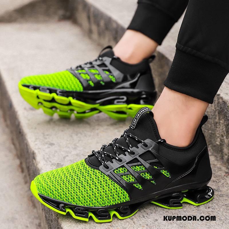 Buty Sportowe Męskie Buty Do Biegania Casual Amortyzujące Lato Trampki Oddychające Zielony