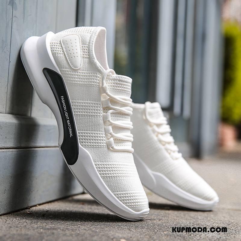 Buty Sportowe Męskie Wiosna Tendencja Męska Buty Do Biegania Casual Wszystko Pasuje Biały