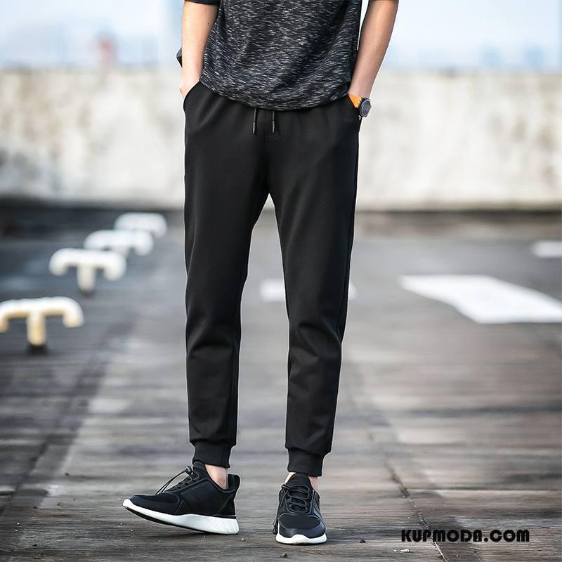Casualowe Spodnie Męskie Chłodna Czarny