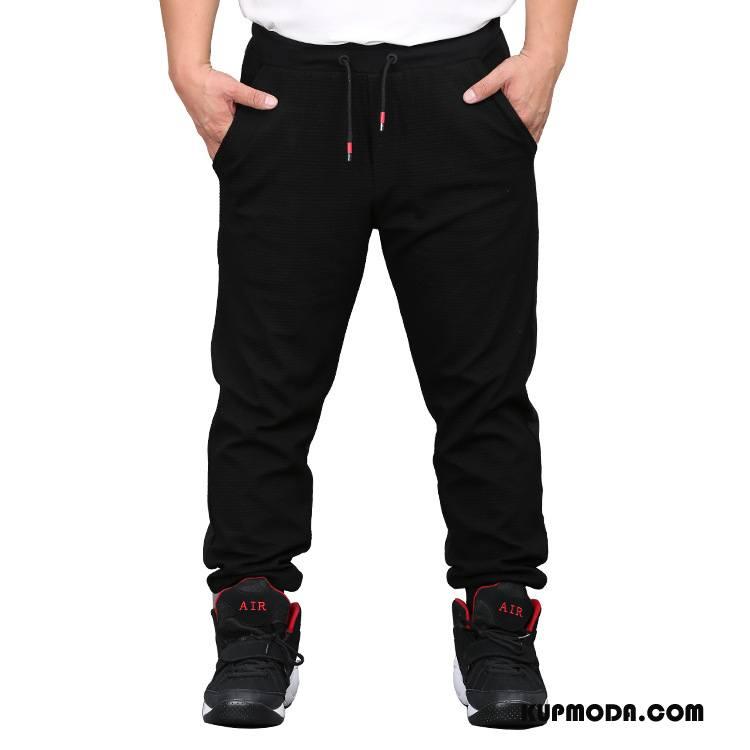 Casualowe Spodnie Męskie Ciepłe Środkowa Stan 2018 Duże Plus Kaszmir Spodnie Dresowe Czarny