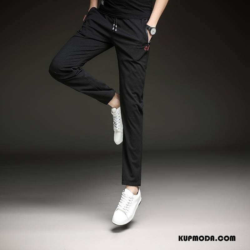 Casualowe Spodnie Męskie Harlan Slim Fit Lato Spodnie Dresowe Męska Ołówkowe Spodnie Czarny
