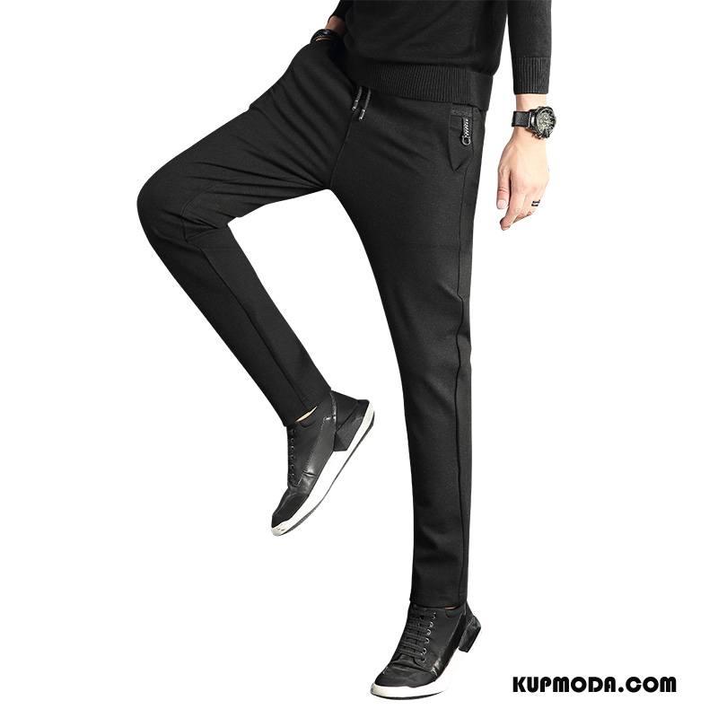 Casualowe Spodnie Męskie Plus Kaszmir Wysoki Koniec Spodnie Dresowe Męska Tendencja Dla Grubych Czarny