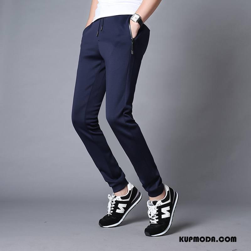 Casualowe Spodnie Męskie Slim Fit Duży Rozmiar Spodnie Dresowe Ołówkowe Spodnie Jesień Męska Niebieski