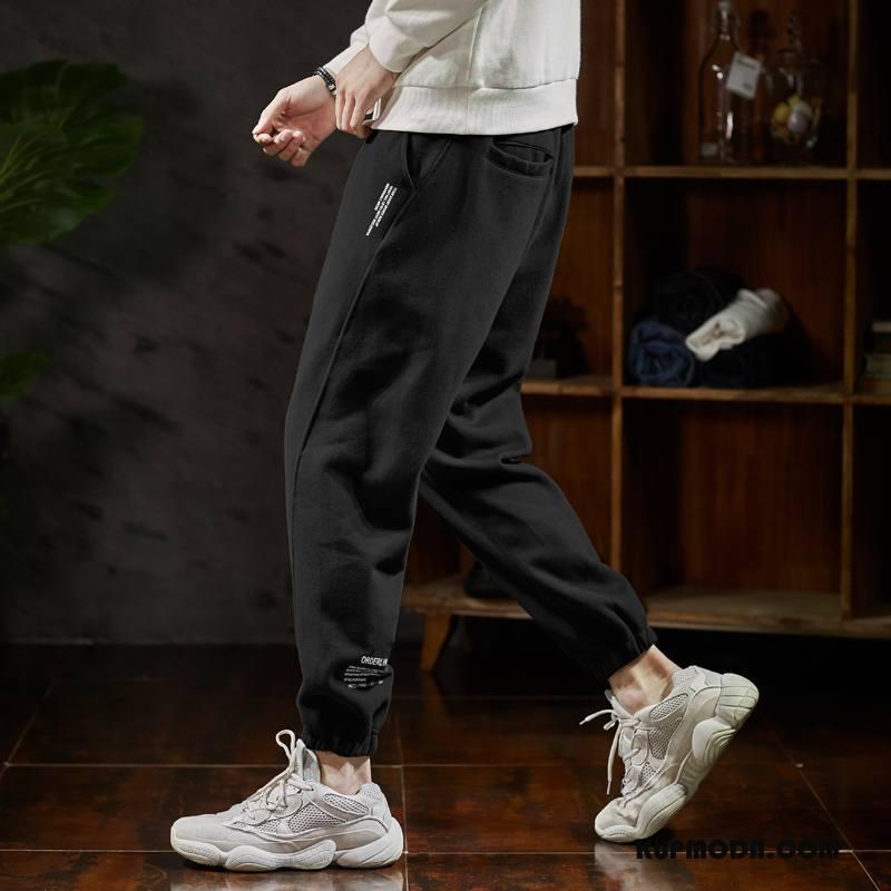 Casualowe Spodnie Męskie Slim Fit Szerokie Spodnie Dresowe Męska Modna Marka Wiosna Czarny