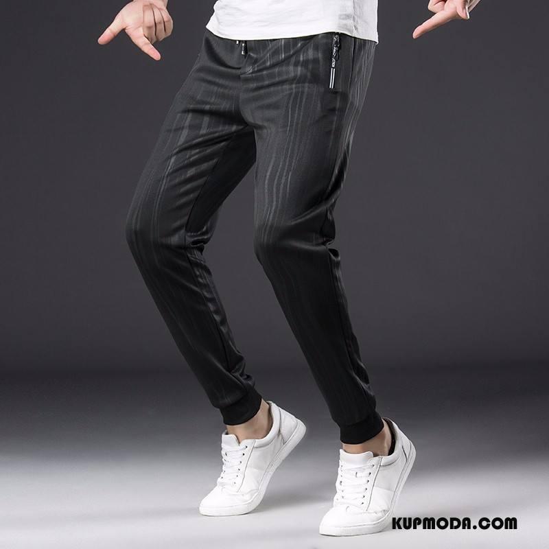 Casualowe Spodnie Męskie Sportowe Moda Męska Czarny