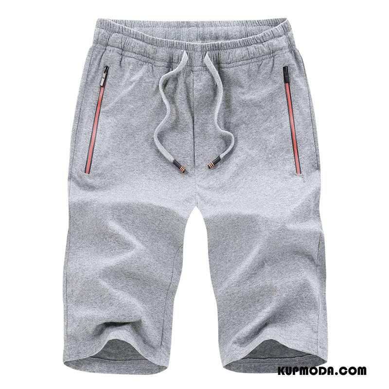 Casualowe Spodnie Męskie Sportowe Sweter Szorty Szary Jasny