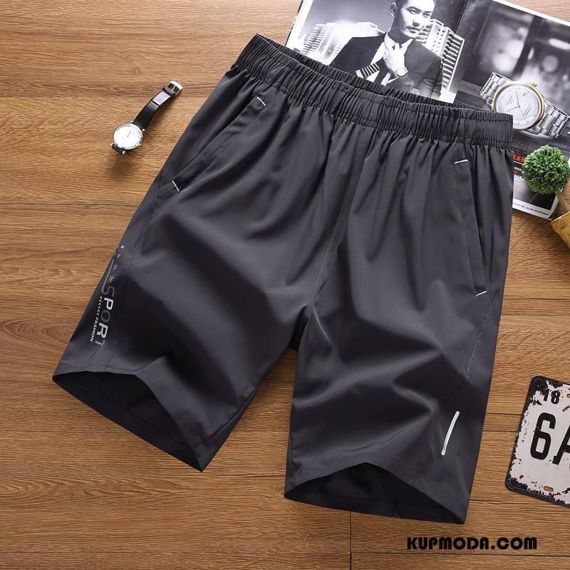 Casualowe Spodnie Męskie Szybkie Suszenie Szorty Duży Rozmiar Męska Mały Sportowe Szary Ciemno