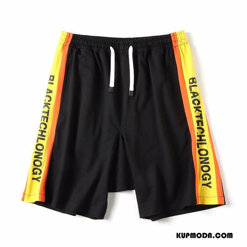 Casualowe Spodnie Męskie Tendencja Harlan Lato Sportowe Plażowe Szorty Pomarańczowy