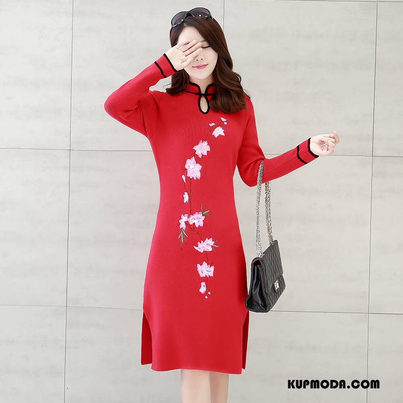 Cheongsam Damskie Miasto Moda 2018 Popularny Wygodne Eleganckie Czerwony