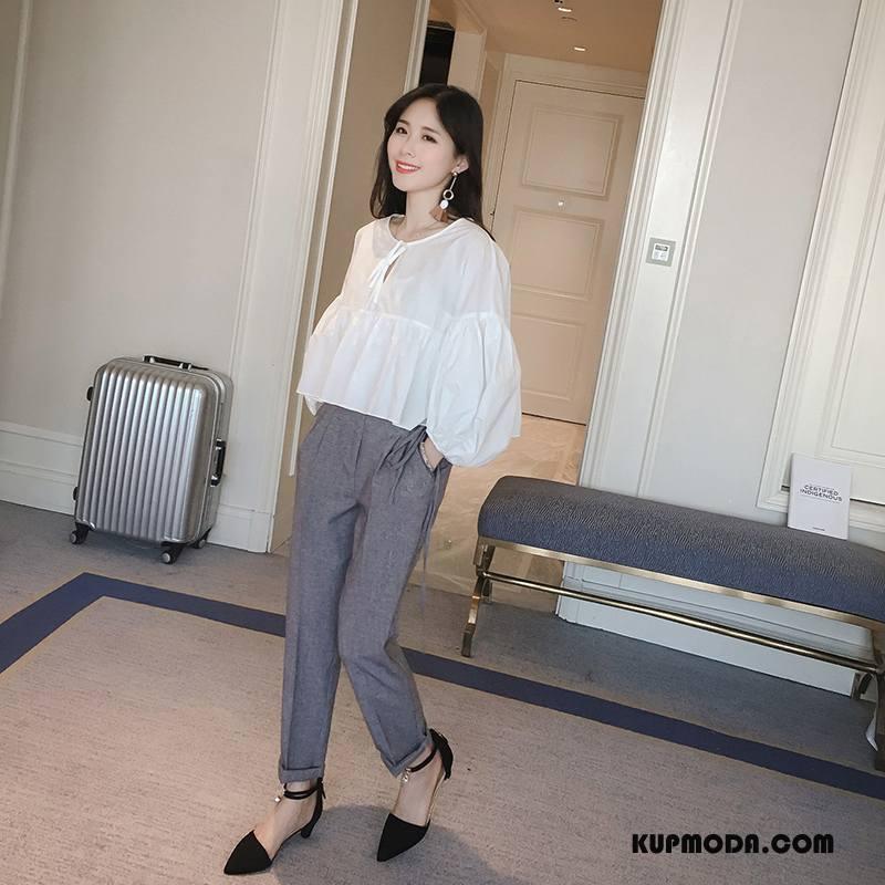 Garnitur Damskie Osobowość Bąbelki 2018 Cienkie Moda Eleganckie Czysta Biały