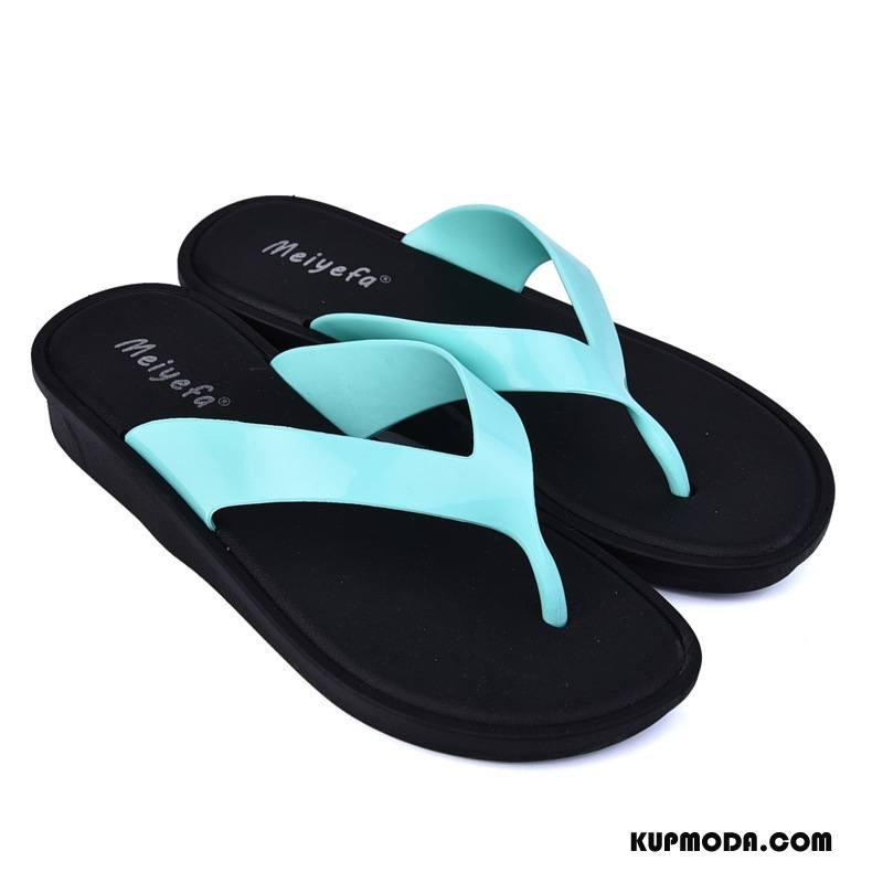 Japonki Damskie Kapcie Moda Plażowe Damska Lato Antypoślizgowe Niebieski Proszek