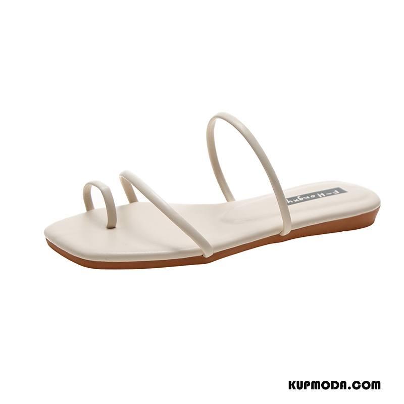 Japonki Damskie Wszystko Pasuje Moda Lato Plażowe Damska Płaskie Biały