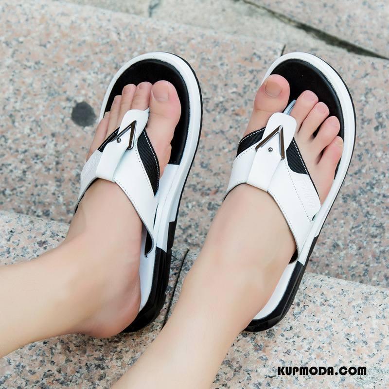 Japonki Męskie Odzież Wierzchnia Buty Osobowość Kapcie Moda Męska Biały