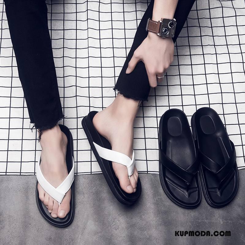 Japonki Męskie Wiosna Kapcie Tendencja Casual Plażowe Moda Czarny