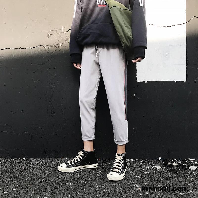 Jeansy Męskie Dżinsy Nieregularne Casualowe Spodnie 2018 Szerokie Mały Biały