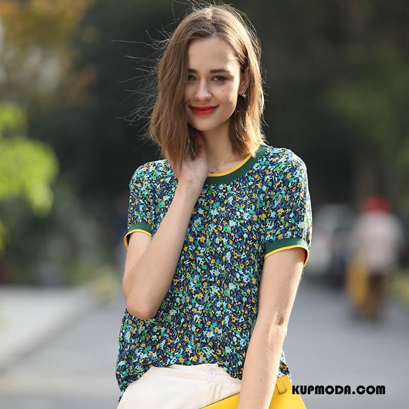 Jedwabna Sukienka Damskie Eleganckie Cienkie Proste Krótki Wiosna Slim Fit Zielony