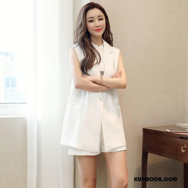 Kamizelka Damskie Świeży Tendencja Moda Proste Pasować Eleganckie Biały