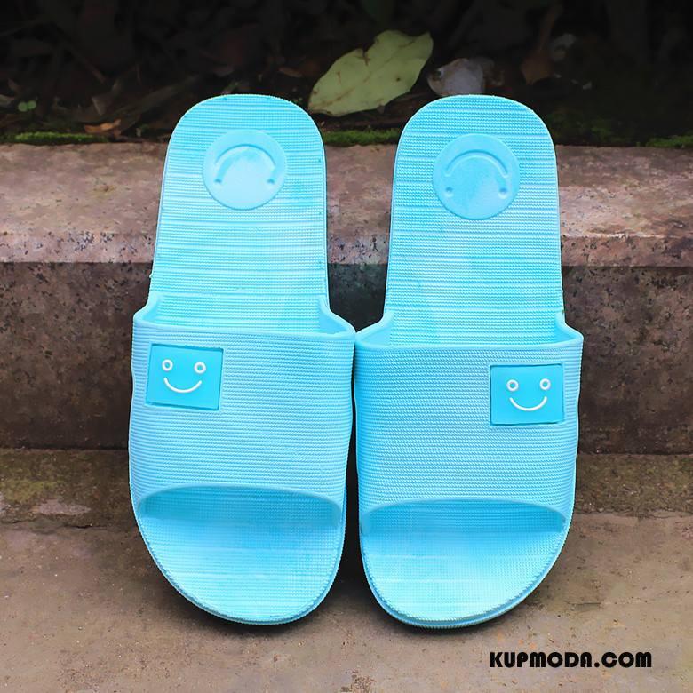 Kapcie Damskie Smile Do Kąpieli Lato Moda Niebieski