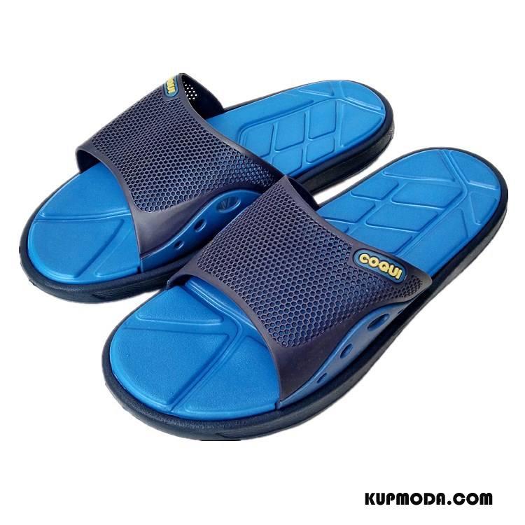 Kapcie Męskie Do Masażu Lato Chłodny Odporne Na Zużycie Lekkie Męska Niebieski