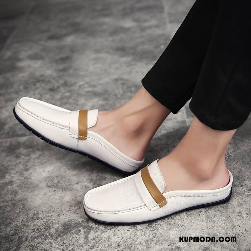 Kapcie Męskie Sandały Moda Męska Buty Casual 2018 Biały