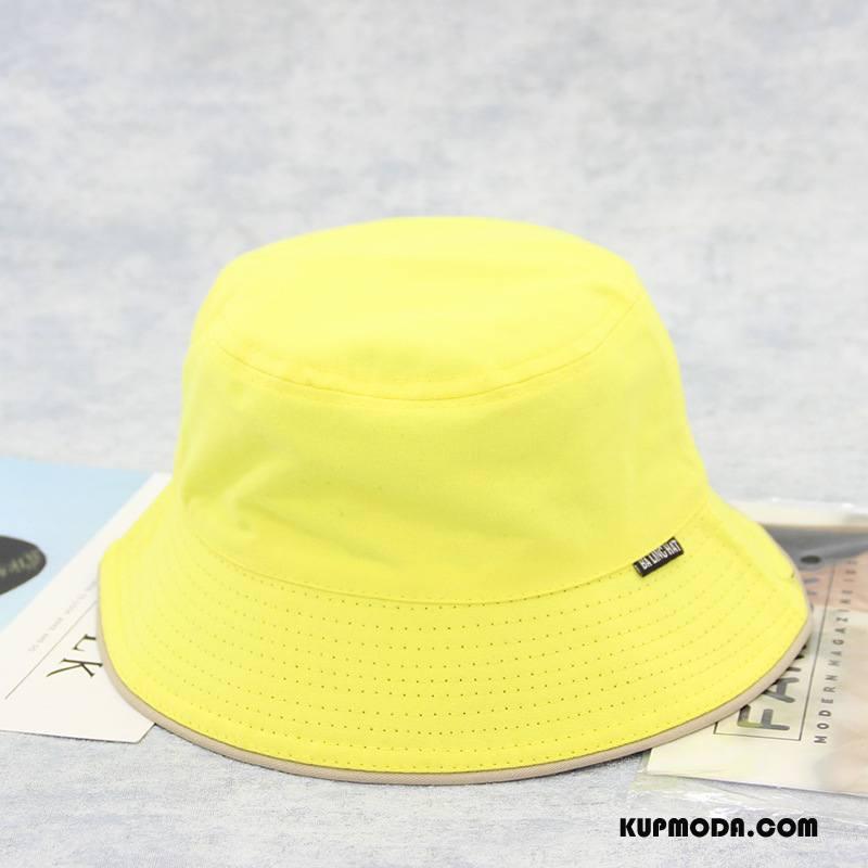 Kapelusz Damskie Damska Lato Kapelusz Rybacki Słońce Każdego Dnia Męska Czysta Żółty