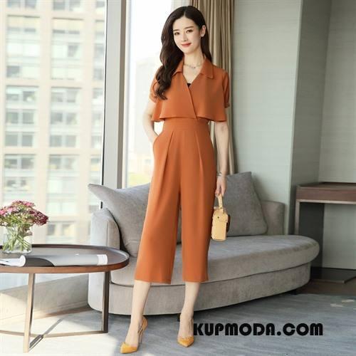 Kombinezon Damskie Moda Popularny Młodzieżowa Wygodne Osobowość Lato Oranż