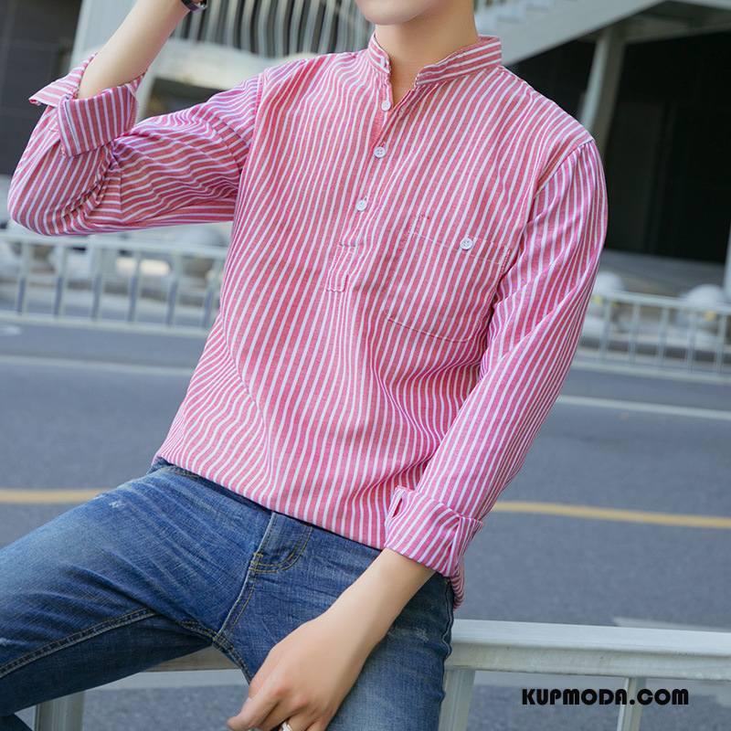 Koszula Męskie Casual Długi Rękaw Męska Nowy Tendencja
