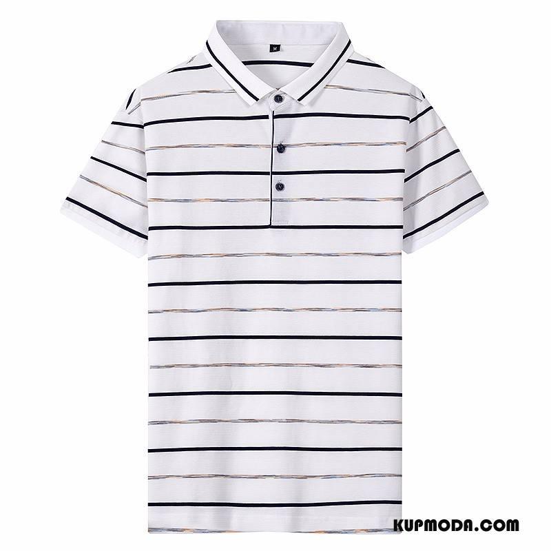 Koszulka Polo Męskie Krótki Rękaw Biały