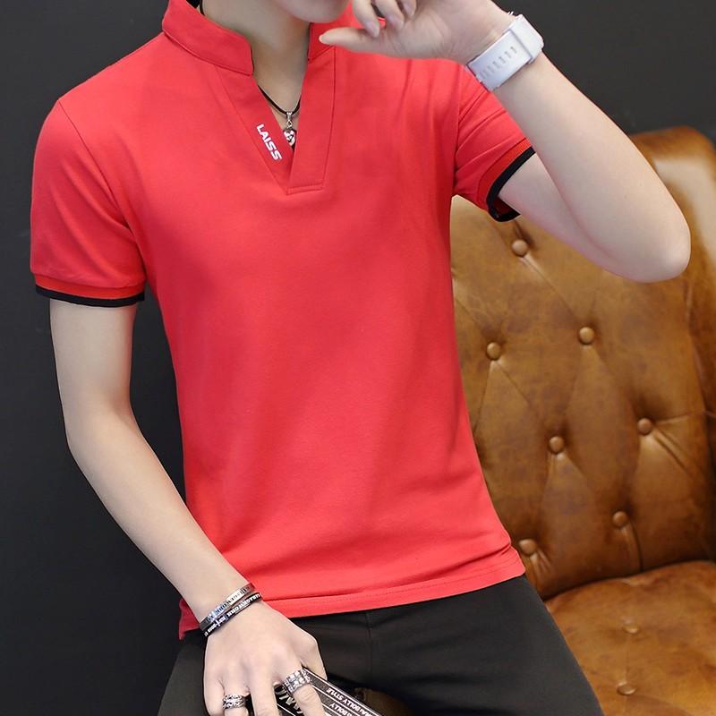 Koszulka Polo Męskie Nowy Popularny Miasto Czerwony