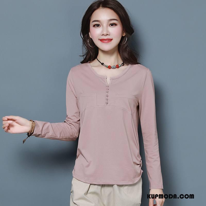 Koszulki Damskie Cienkie Moda Duże Słodkie 2018 Eleganckie Różowy