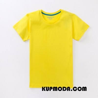 Koszulki Męskie Bawełna Żółty