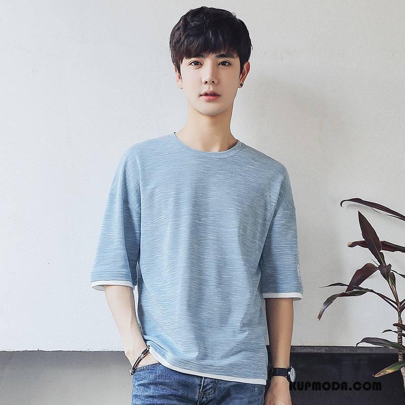 Koszulki Męskie W Paski T-shirt Krótki Rękaw Rękawy Tendencja Szerokie