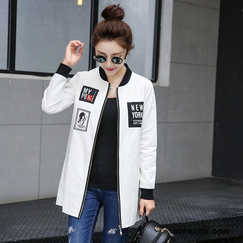 Krótka Kurtka Damskie Krótkie Moda Tendencja Garnitury Slim Fit Eleganckie Czysta Biały