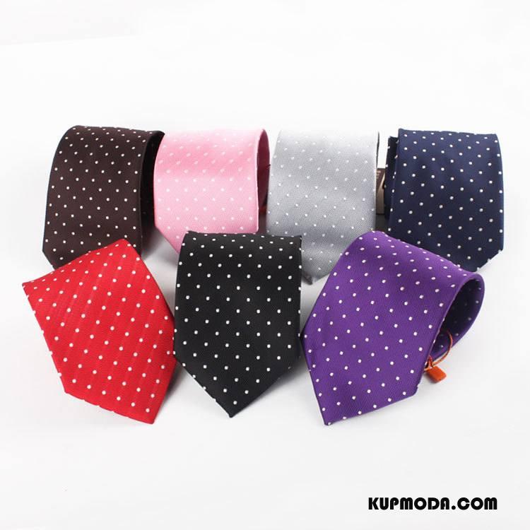 Krawat Męskie 5 Cm Biznes Pudełko Na Prezenty Męska Punkt Fali Sukienka Kolor